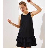 Back Cutout Ruffle Hem Dress