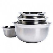 Tabletops Unlimited 4-Piece Stainless Steel Mixing Bowl Set