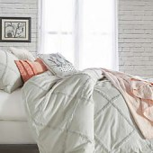 Peri Home Chenille Lattice Duvet Cover