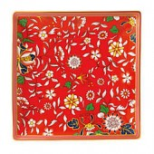Wedgwood Wonderlust Crimson Jewel 5.9-Inch Square Tray