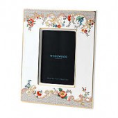 Wedgwood Wonderlust Rococo Flowers 4-Inch x 6-Inch Picture Frame