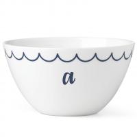 Lenox I.D. Navy Scallop Monogrammed All Purpose Bowl