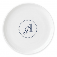 Lenox I.D. Navy Dots Monogram Accent Plate