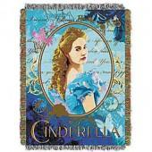 Disney Cinderella Woven Tapestry Throw Blanket