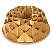Nordic Ware Jubilee Premier Gold 10-Cup Bundt Pan in Gold