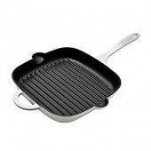 Denby Natural Canvas 10-Inch Cast Iron Square Grill Pan