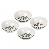 Portmeirion Botanic Garden 3.75-Inch Low Bowls (Set of 4)