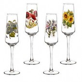 Portmeirion Botanic Garden 8 oz. Champagne Flutes (Set of 4)
