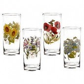 Portmeirion Botanic Garden 15 oz. Highball Glasses (Set of 4)