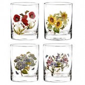 Portmeirion Botanic Garden 12 oz. Double Old Fashioned Glasses (Set of 4)