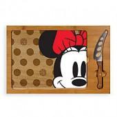 Disney Minnie Mouse Icon Glass Top Tray & Knife Set