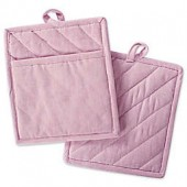 DII Design Imports Solid Chambray Pot Holder (Set of 2)