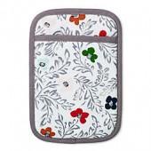 Kate Floral Block Print Pot Holder in White
