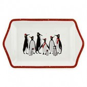 Portmeirion Red Penguin 12-Inch Dessert Tray
