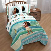 Disney Moana The Wave 2-Piece Reversible Twin Comforter in Blue