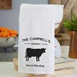 Personalized Farmhouse Kitchen Flour Sack Towel