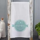 Personalized Coffee House Tea Towel