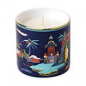 Wedgwood Wonderlust Blue Pagoda Lotus and White Jasmine Scented Candle