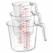 Cuisinart 3-Piece Clear Measuring Cup Set