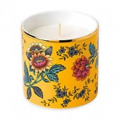 Wedgwood Wonderlust Yellow Tonquin Lemongrass and Basil Scented Candle