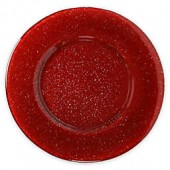 Villeroy and Boch Glass Charger Plate in Red Glitter