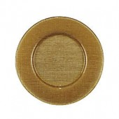 Villeroy and Boch Glass Charger Plate in Gold