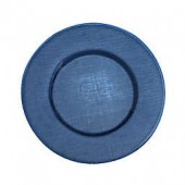 Villeroy and Boch Glass Charger Plate in Deep Blue