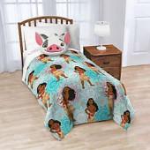 Disney Moana Nogginz Pillow and Throw Blanket Set in Blue