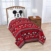 Disney Mickey Mouse Nogginz Pillow and Throw Blanket in Red