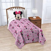 Disney 2-Piece Minnie Nogginz Throw Blanket and Pillow Set