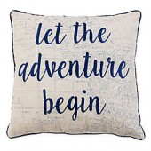 Thro Leon Adventure Square Throw Pillow in Navy
