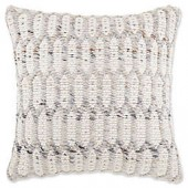 Bristil Square Throw Pillow in Taupe/White