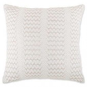 Bee & Willow Home Metallic Cottage Stripe Oversized Throw Pillow in Ivory