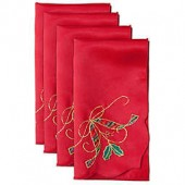 Lenox Holiday Nouveau Cutwork Napkins in Red (Set of 4)