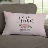 Home Is Where Mom Is Personalized Throw Pillow