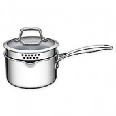 Zwilling J.A. Henckels Energy 2 qt. Ceramic-Coated Stainless Steel Saucepan with Strainer Lid