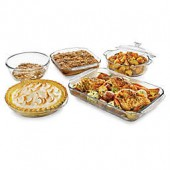Libbey Glass Bakers 5-Piece Bakeware Set in Clear