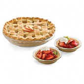 Libbey Glass Bakers 6-Piece Pie Dish Set in Clear
