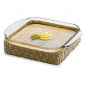Libbey Glass Bakers Basic 8-Inch Square Baking Dish with Basket