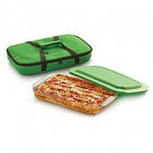 Libbey Glass Bakers Basic 4-Piece 9-Inch x 13-Inch Baking Dish Set in Green