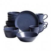 Bee & Willow Home Milbrook 16-Piece Dinnerware Set in Blue