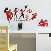 Disney 23-Piece Incredibles Vinyl Wall Decal Set