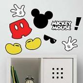 Disney Mickey Mouse 9-Piece Vinyl Wall Decal Set