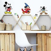 Disney Mickey Mouse 90th Anniversary 14-Piece Vinyl Wall Decal Set