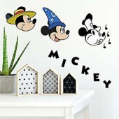 Disney Mickey Mouse 90th Anniversary 20-Piece Vinyl Wall Decal Set