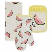 kate spade new york Watermelon 3-Piece Kitchen Linens Set in Daffodil