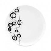 Dansk Lotta Shake 10.5-Inch Dinner Plate in Black