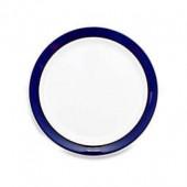 Denby Malmo Dessert/Salad Plate in White/Blue