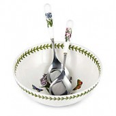 Portmeirion Botanic Garden Salad Bowl with Servers Set