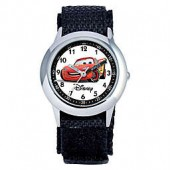 Disney Childrens 30mm Cars Time Teacher Watch in Stainless Steel with Black Strap